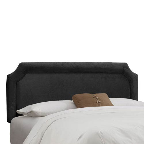 Skyline Furniture, Mfg. California King Notched Headboard in Velvet Black