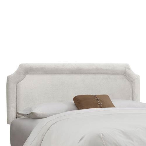 Skyline Furniture, Mfg. California King Notched Headboard in Velvet White
