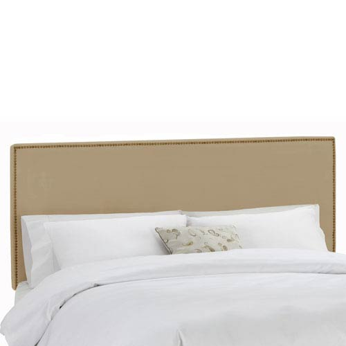 Skyline Furniture, Mfg. Full Nail Button Border Headboard in Premier Oatmeal