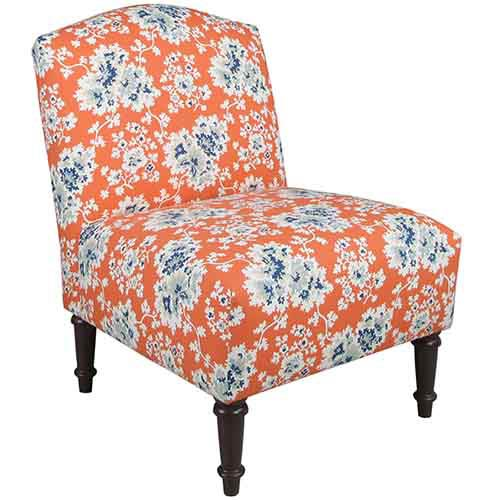 Cecilia Coral Camel Back Chair