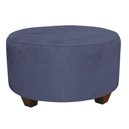Skyline Furniture, Mfg. Premier Lazuli Tufted Round Cocktail Ottoman
