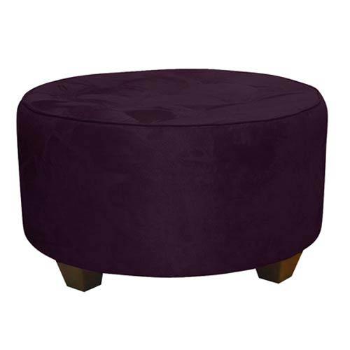 Premier Purple Tufted Round Cocktail Ottoman