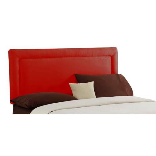 Border California King Headboard - Premier Red