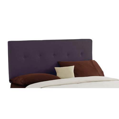 Five Button Full Headboard - Premier Purple