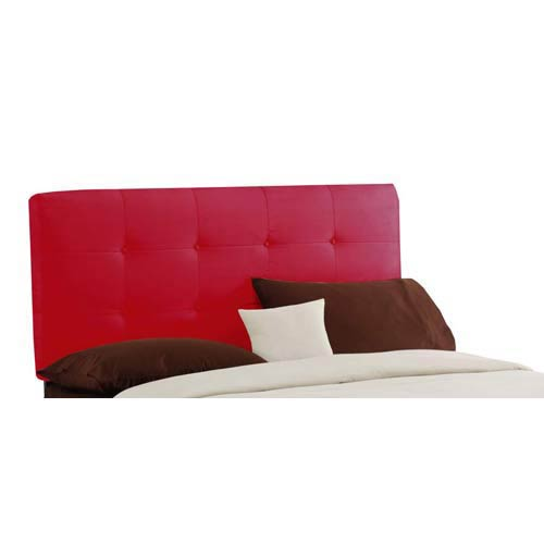 Tufted California King Headboard - Premier Red