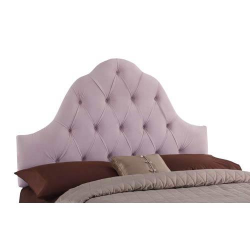 High Arc Queen Headboard - Shantung Lilac