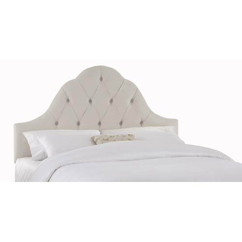 Skyline Furniture Mfg Velvet White Full Queen Arch Tufted Headboard