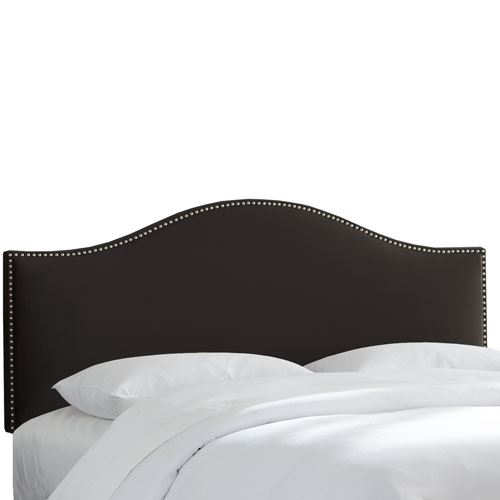 Queen Premier Black Nail Button Headboard