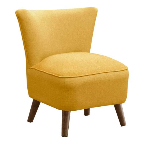 Chair in Linen French Yellow