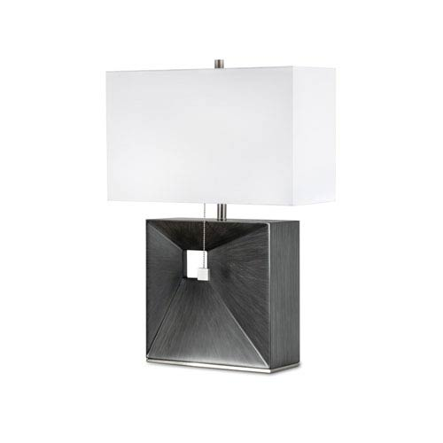 Parallux Charcoal Gray One-Light Reclining Table Lamp