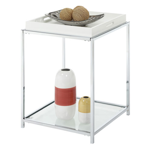 Convenience Concepts Oxford White End Table 203085w Bellacor