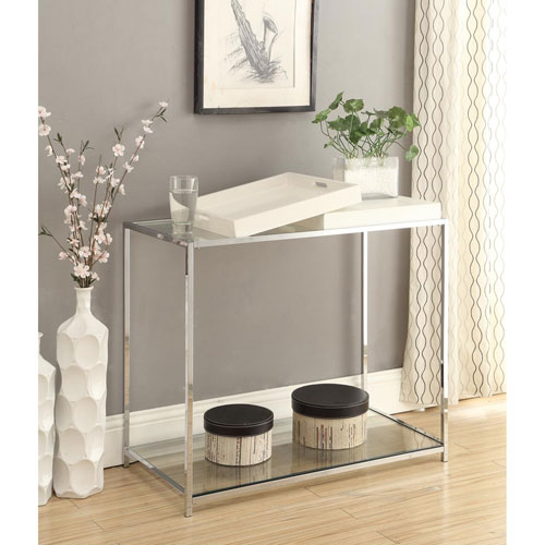 Charmant Convenience Concepts Palm Beach White 30 Inch High Console Table