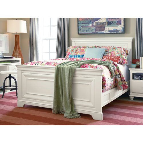 Classics 4.0 Summer White Full Panel Bed