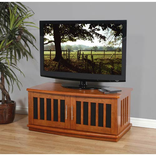 Plateau Lsx Series Walnut 42 Inch Tv Stand Lsx D 42 W Bellacor