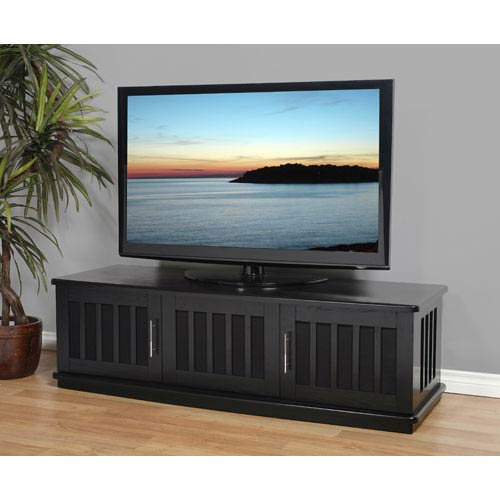 LSX Series Black Oak 62-Inch TV Stand
