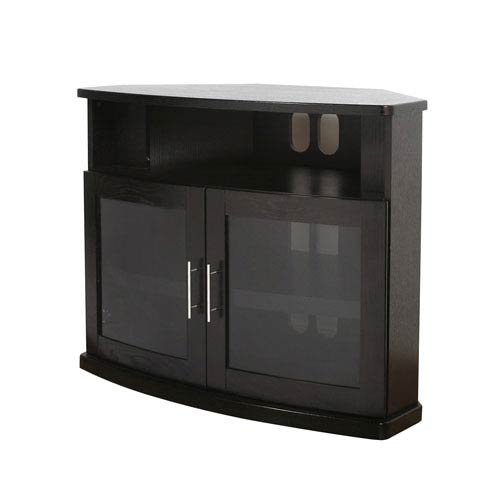 Newport Black Oak 40-Inch Corner TV Cabinet