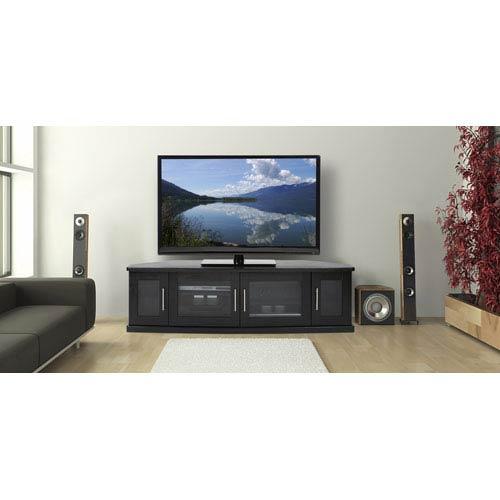 Newport 62-Inch Black Oak TV Stand