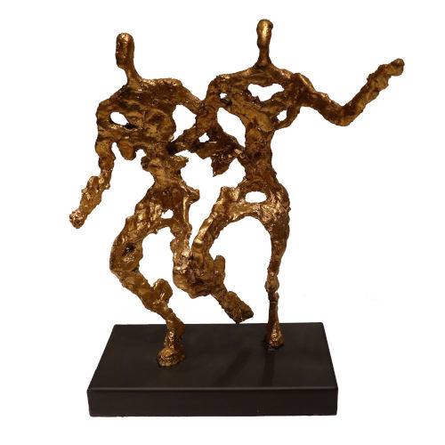 Antique Gold In Motion Sculpture