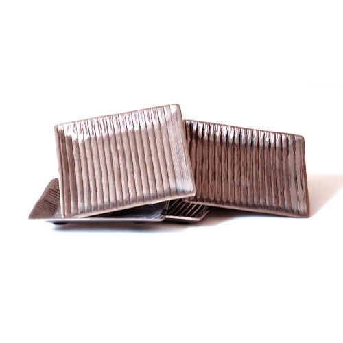 Nickel Lined Coasters, Set of Four