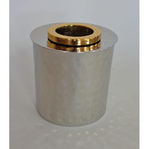 Nickel Gold Ring Round Tissue Box