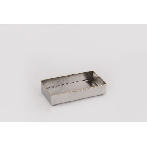 Frosted Nickel Gold Trimmed Rectangular Napkin Tray