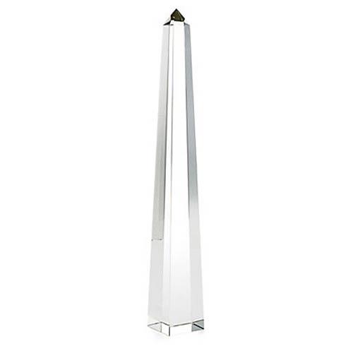 Crystal 22-Inch Obelisk Sculpture