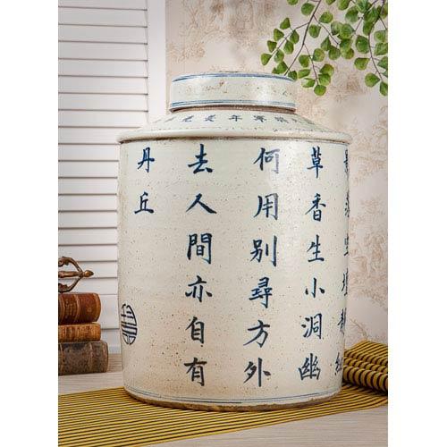 Blue and White Porcelain Jar