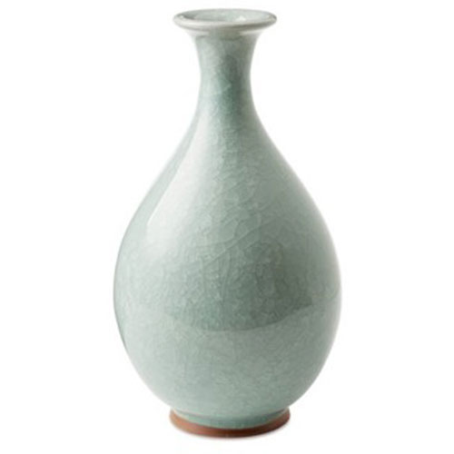 Celedon Ice Crackle Vase