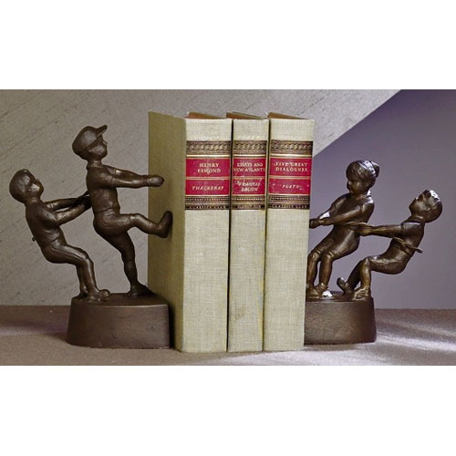 Bronze Iron Tug Of War Bookends