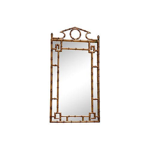 Antique Gold Bamboo Mirror