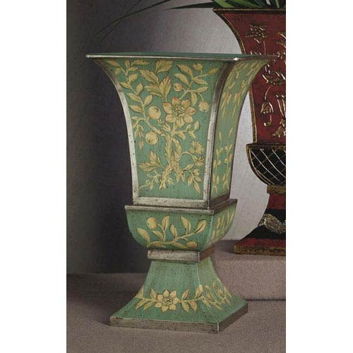 Dessau Home Blue and Green Iron Vase