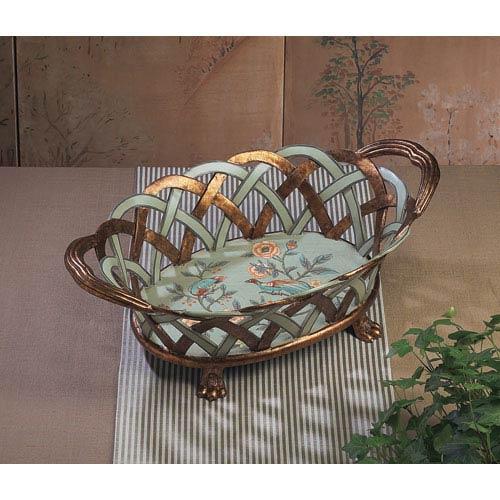 Sea Foam Basket/Centerpiece with Floral Detail
