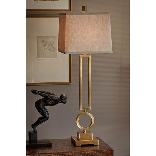 Antique Brass Rectangular Circle Lamp