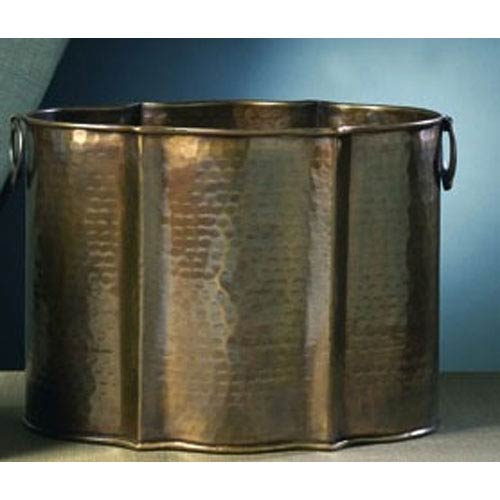 Antique Brass Planter - 11 Inches Tall