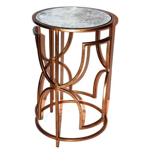 Antique Gold 15-Inch Quadrefoil Table