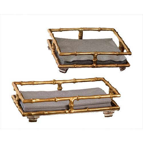 Gold Square Napkin Tray
