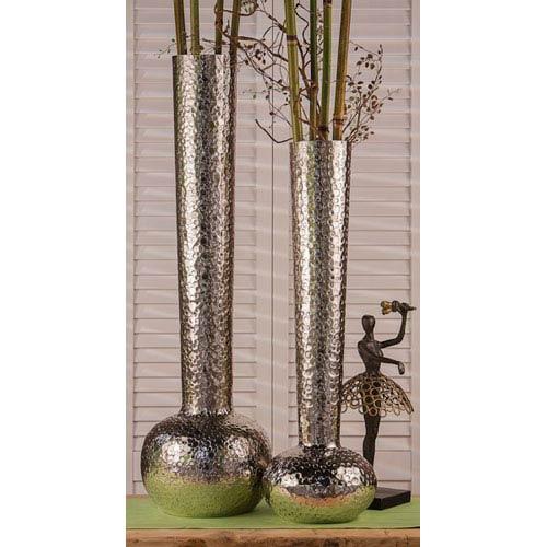 Nickel Hammered 29.5-Inch Watermark Vase