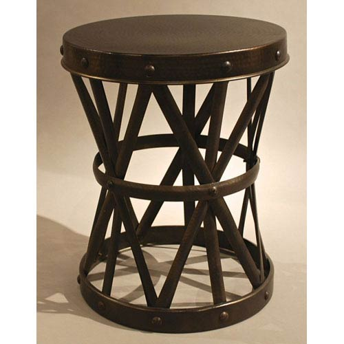 Dessau Home Bronze Garden Seat Accent Table