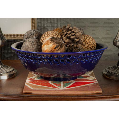 Cobalt Porcelain Bowl