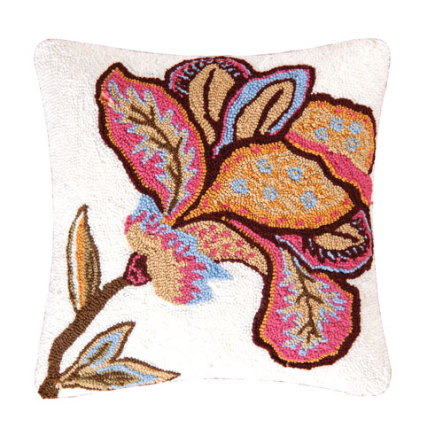 Bethany Flower Pink 18 In. Pillow