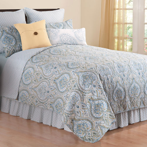 Amherst Blue Full/Queen Mini Quilt Set