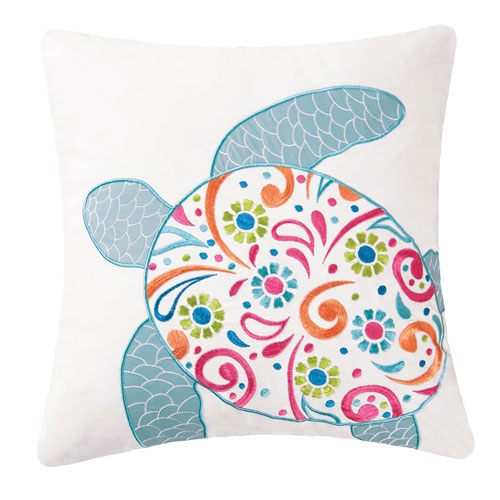 St. Kitts Turtle 18 In. Pillow