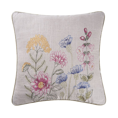 Floral Garden 18 In. Pillow