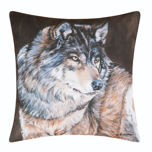 Wolf 18 In. Pillow