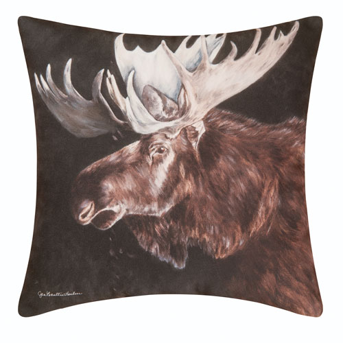 Moose 18 In. Pillow