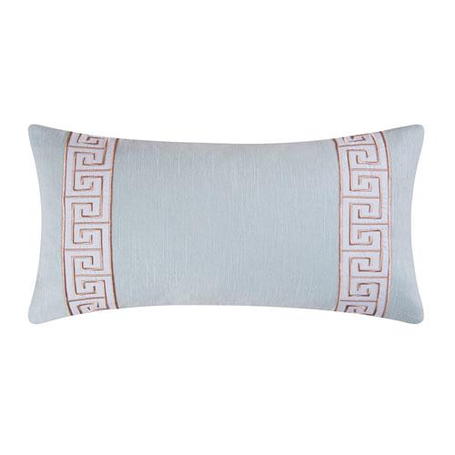 C & F Enterprises, Inc. Greek Key Blue 12 x 24 In. Pillow