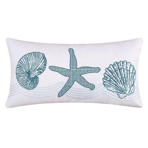 C F Enterprises Inc Cora White And Blue 40 X 40 Inch Decorative Extraordinary 24 Inch Decorative Pillows