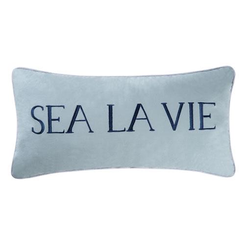 C & F Enterprises, Inc. Sea La Vie Blue 12 x 24 In. Pillow
