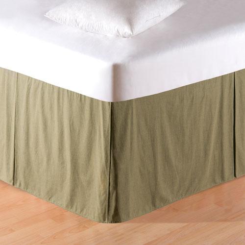 Mini Green Plaid Twin Bed Skirt