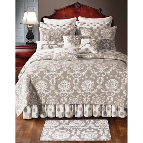 Providence Cream and Beige Full/Queen Quilt